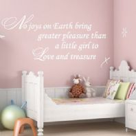 No Joys on Earth Baby Girl Nursery Art ~ Wall sticker / decals